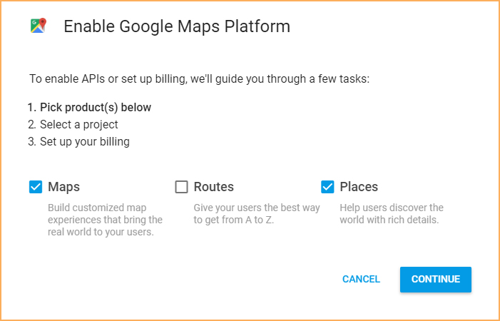 ApricotMaps - Acquiring Google API Key